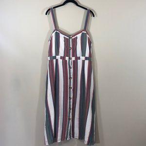 NWT XL Blue Rain Button Dress